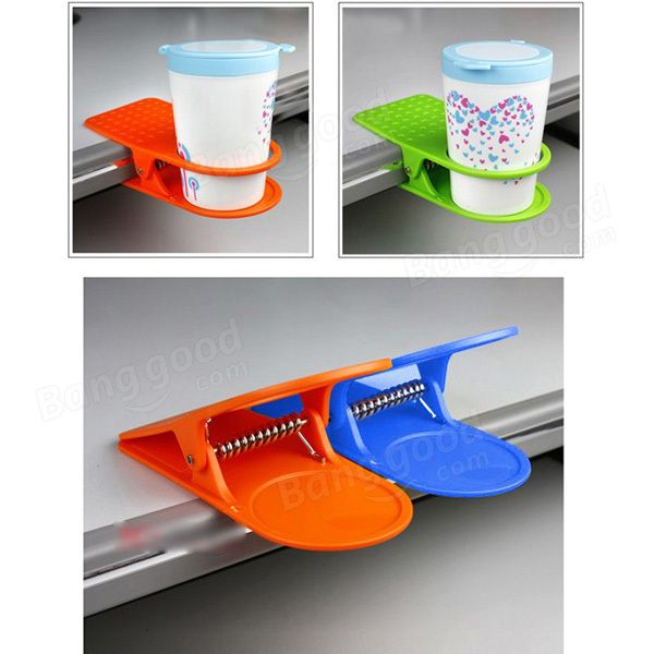 Table Desk Cup Holder Clip Drink Clip Coffee Holder - US$2.99