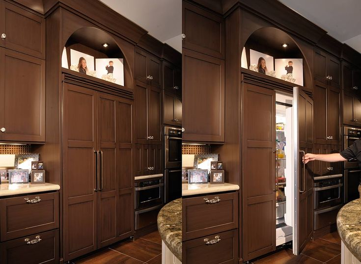 Lovely built-in 'fridge | Home: Kitchens | Pinterest ...