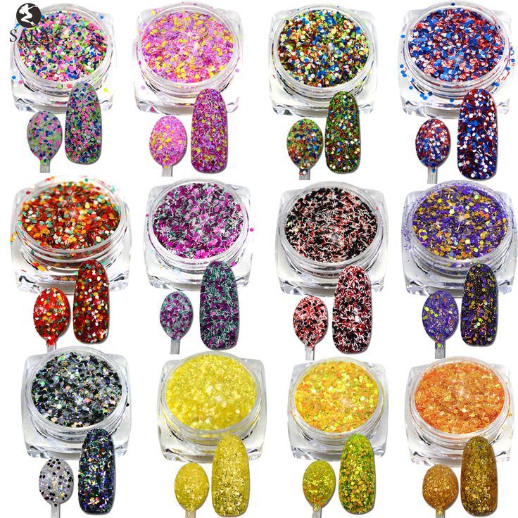 Sara Nail Salon 1Bottle 3g Sweet Cheese Sequins Glitter Powder Super Nail Glitters Dust Tips Shinny Nail Art Decorations SN13-24