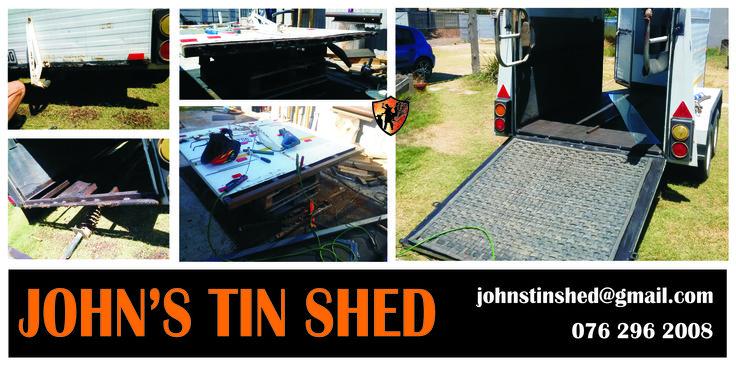 Step 2 of Horsebox repair - Ramp rust repair.
