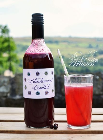 Blackcurrant Cordial recipe - The Party Artisan