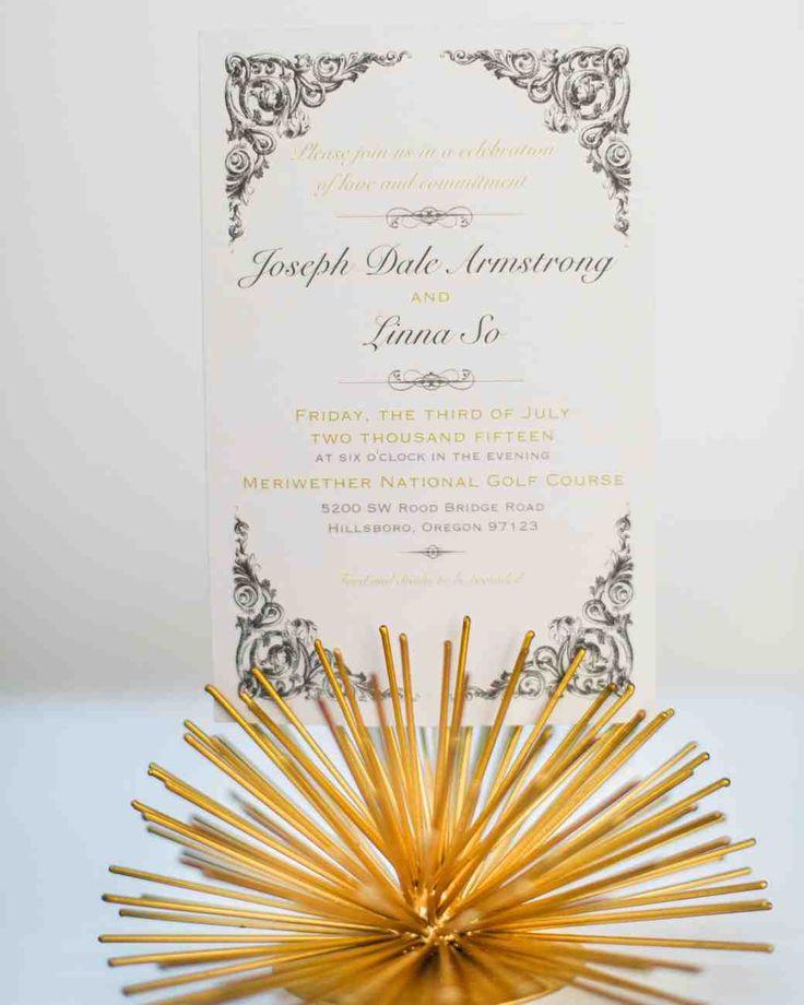 624 best Wedding Invitations images on Pinterest Martha stewart