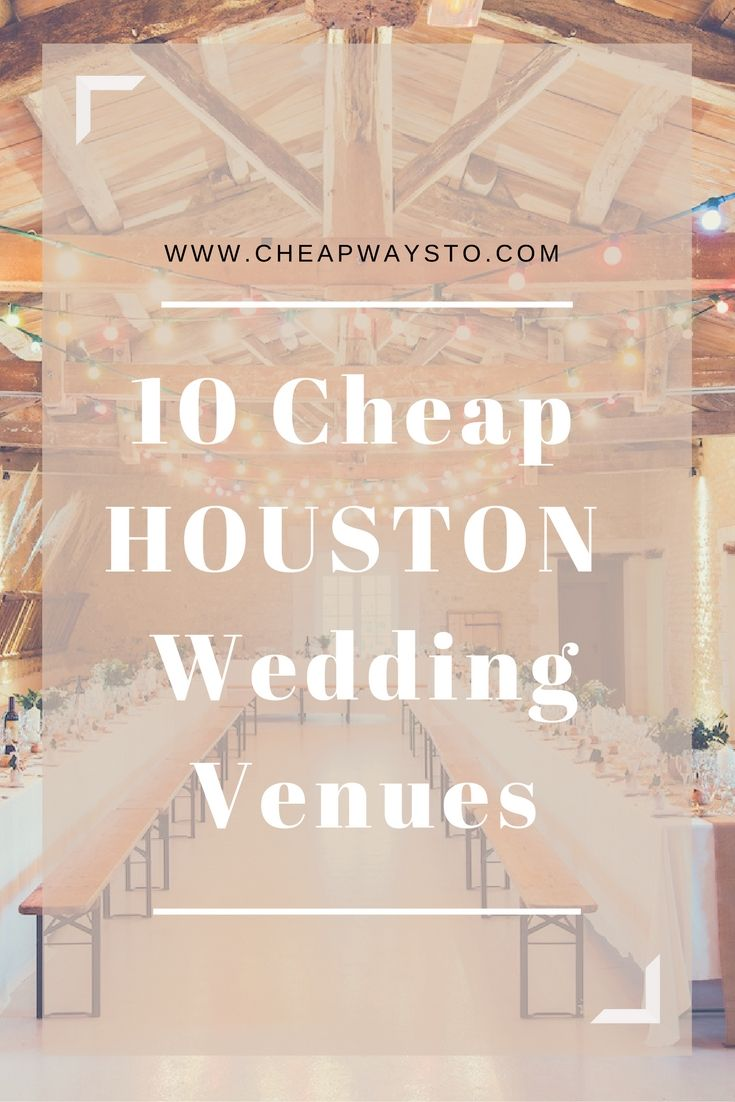 Looking for an affordable place to host your wedding or party in Houston, Texas? Here's a list of 10 top Houston wedding venues that give you more bang for your buck. Houston Arboretum & Nature Center Location: 4501 Woodway Drive, Houston, TX 77024 Cost: Renting the indoor space or lily garden costs $500 for 50 guests and goes ... Read more