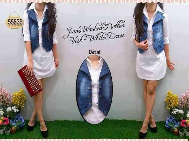 Dress Katun+Jeans Wash Fit L Besar Harga Seri  @Rp  97.000 Harga Ecer @Rp107.000  http://pho.to/7HS5H/as