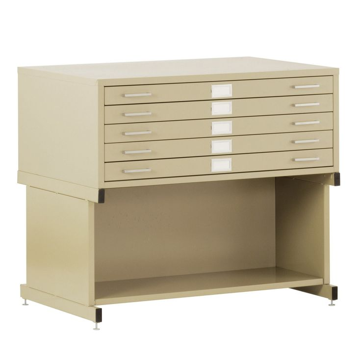 Sandusky Lee Flat Filing Cabinet with Open Base - ATM044