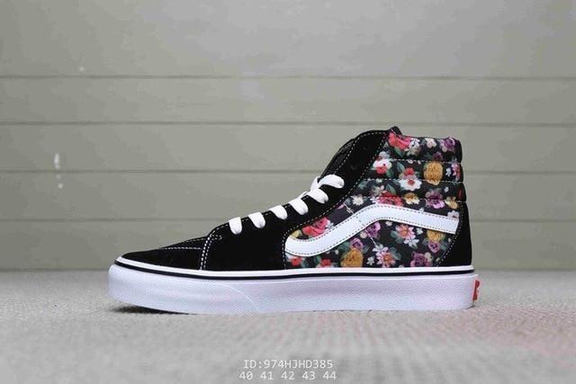 Bandana Fever Vans Black SK8 Hi Floral Shoes   Floral shoes