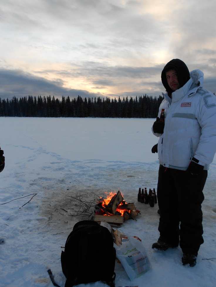 Ice Fishing... No need to specify which lake, there's hundreds to choose from around Prince George!