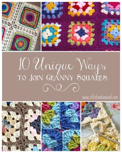 Often the most daunting task of a granny square quilt is piecing all of the beautiful motifs together. Here is a collection of 10 unique ways to join granny squares.