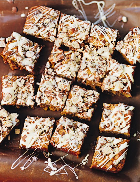 We might just like Jo Wheatley's Malteser blondies even more than their brownie counterparts http://www.sainsburysmagazine.co.uk/recipes/baking/tray-bakes-and-slices/item/malteser-blondies