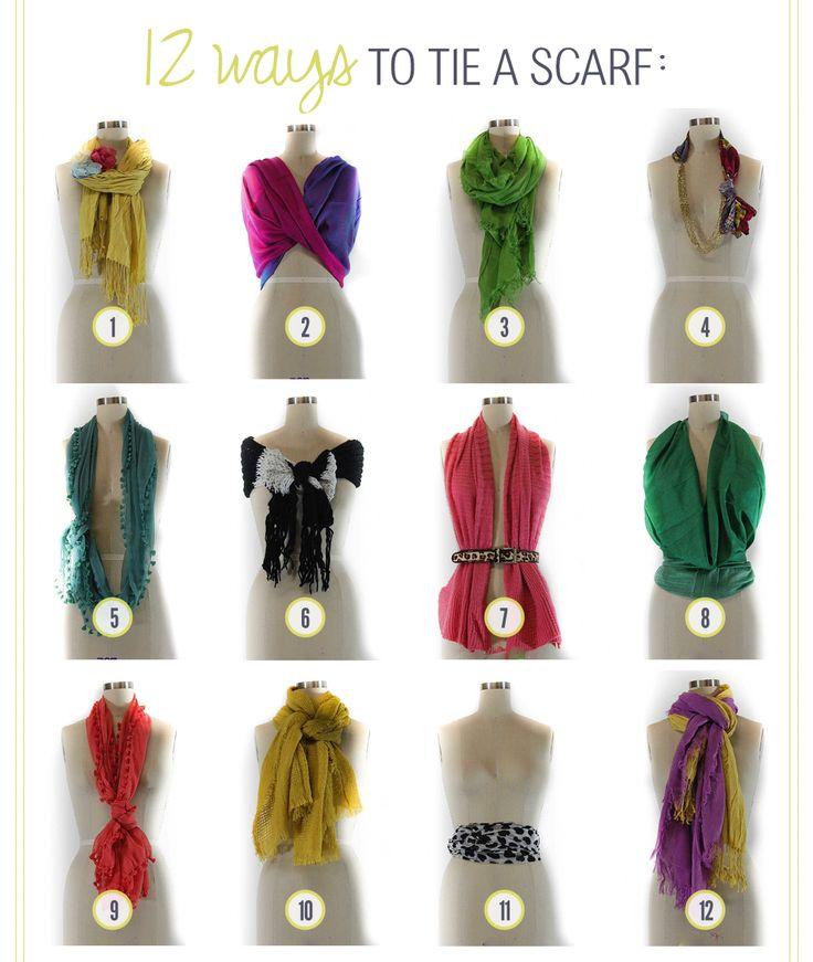 12 Ways to Tie Scarves