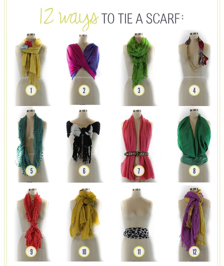 12 Ways to Tie a Scarf #travelfashion #travelclothing