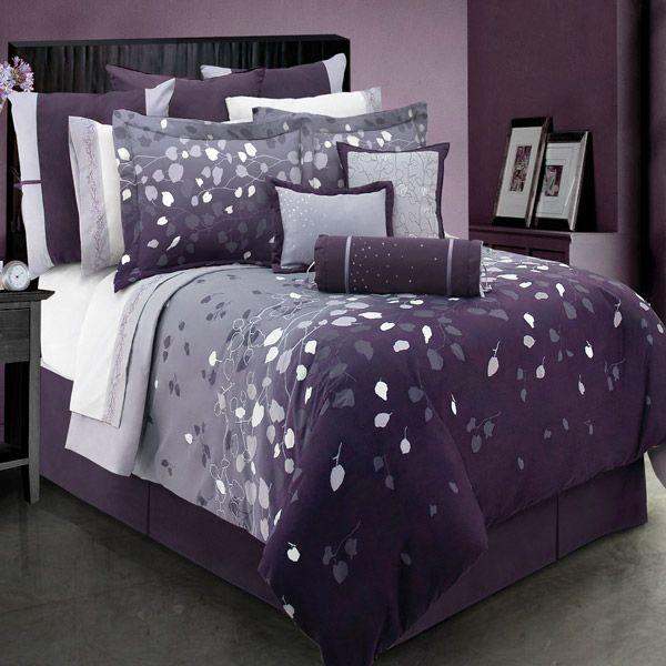 Lavender Dreams Purple And Gray Twin Duvet Cover Set Final Sale