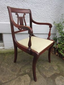 Antique (c1940) Set of 6 Chairs TWO Arm Chairs