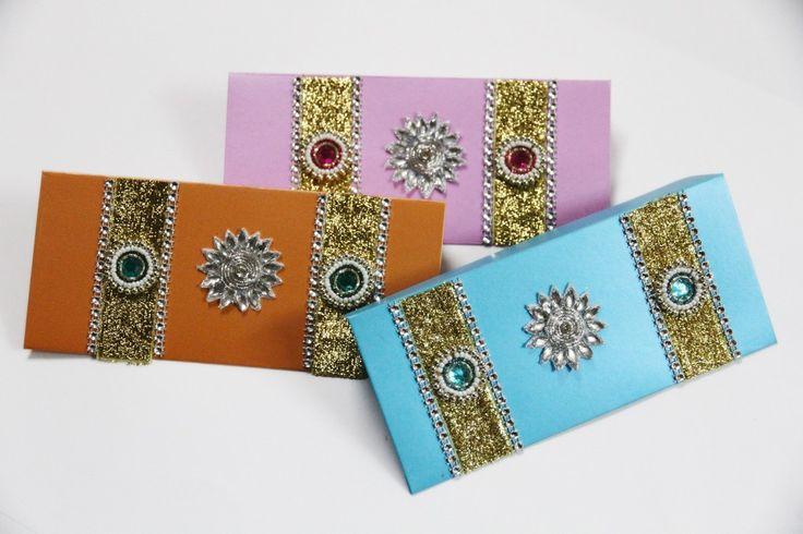 Stone studded unique Designer Wedding Money Gift Envelope. #gifts ...
