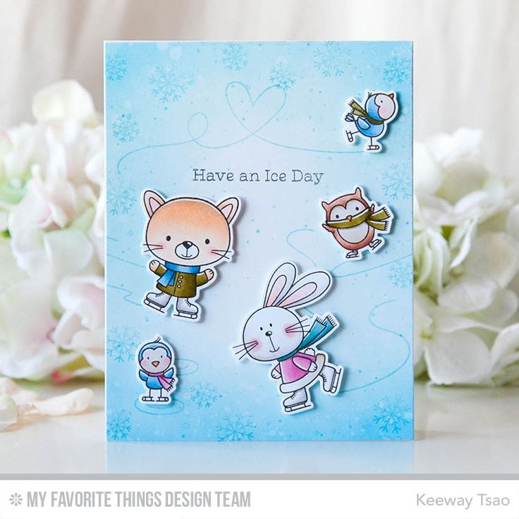 You Make My Heart Melt stamp set & Die-namics, You Make My Heart Spin stamp set & Die-namics — Keeway Tsao #mftstamps