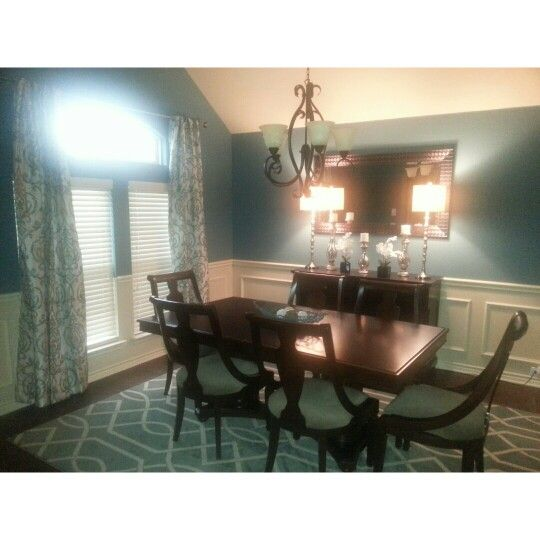 "Formal dining. Sherwin Williams ""Refuge"""