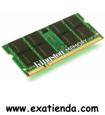 Ya disponible Sodimm. ddr2 Kingston 2gb/800 mhz               (por sólo 38.78 € IVA incluído):   -Capacidad de almacenamiento: 2 GB -Tecnología: DDR II SDRAM -Factor de forma: SO DIMM de 200 espigas -Velocidad de memoria: 800 MHz -Tiempos de latencia: CL5 -Comprobación integridad datos: No ECC -Características de la RAM: Sin memoria intermedia -Configuración de módulos: 256 x 64 -Voltaje de alimentación: 1.8 V Garantía de 24 meses.  http://www.exabyteinformatica.co