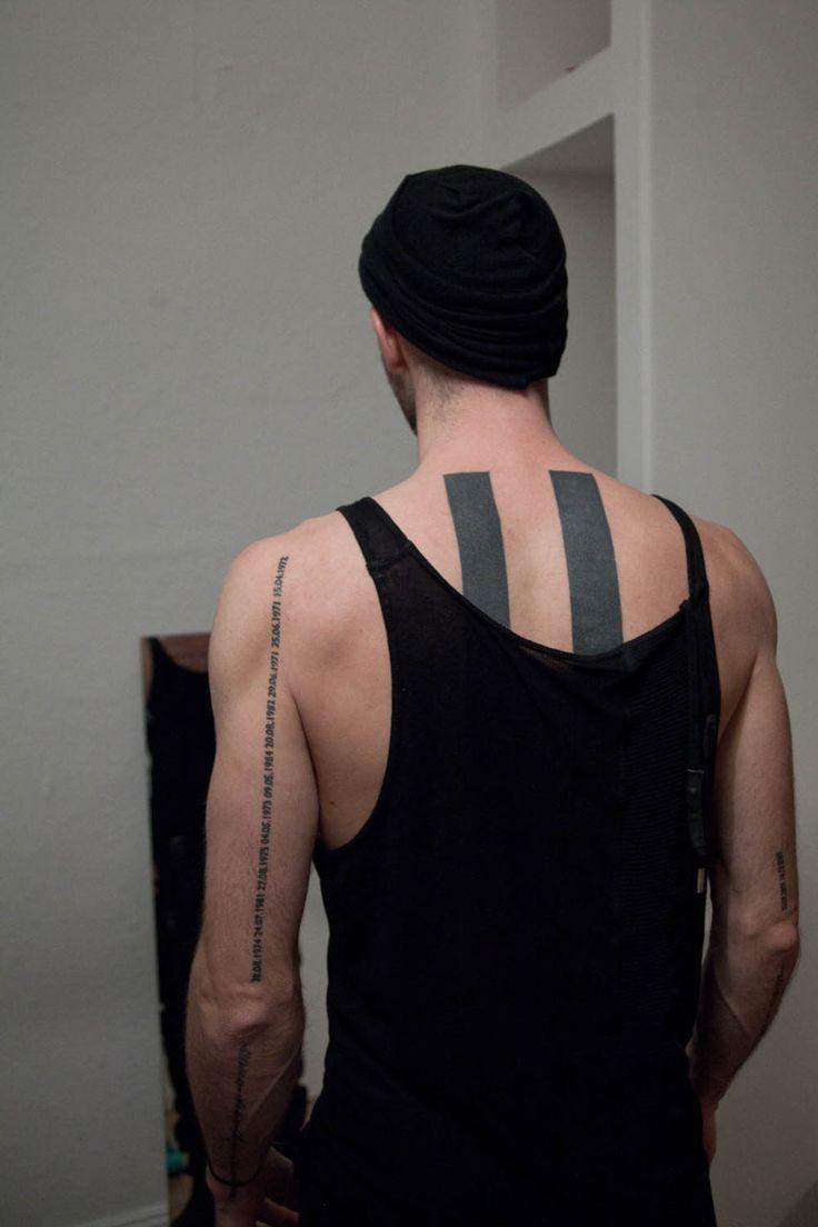 Lars krutak tatu lu tattoos from the dreamtime lars krutak - Awesome Placement For A Quote Tattoo Boris Bidjan Saberi Tattoo By Maxime B Chi