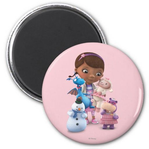 Doc McStuffins and Her Animal Friends. Regalos, Gifts. #imanes #magnets