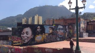 Most major cities in the world frown on graffiti but not Bogota!