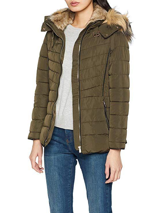 New Look Women s Fiona Coat, Green (Light Khaki), 12 (Manufacturer Size 12) 71203edf562a