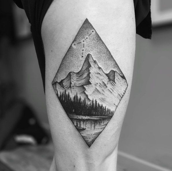 Mountain Tattoo by Tomtom