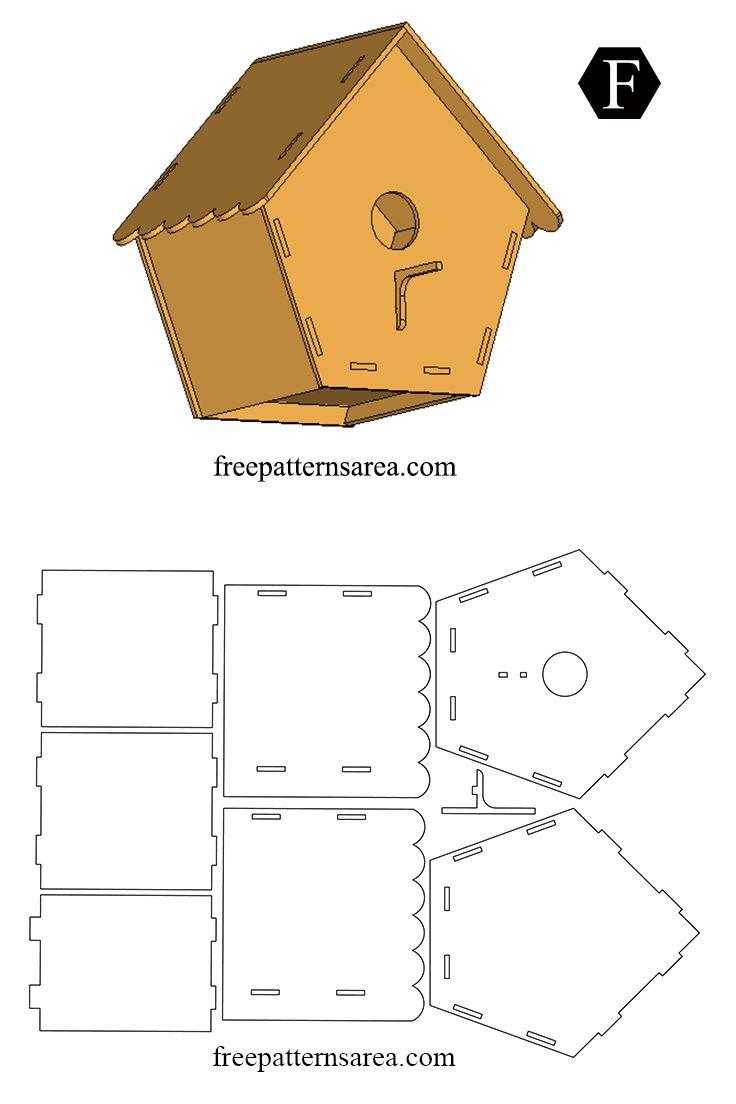 Easy Wooden Bird House Free DIY Plan in 2020 Wooden bird