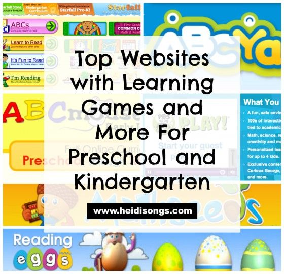 Top Websites with Learning Games and More For Preschool and Kindergarten