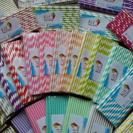 Pitillos de papel de muchos colores para tus fiestas #kitepartyevents