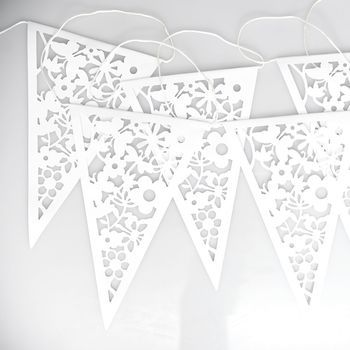 White Lace Paper Bunting                                                                                                                                                                                 More