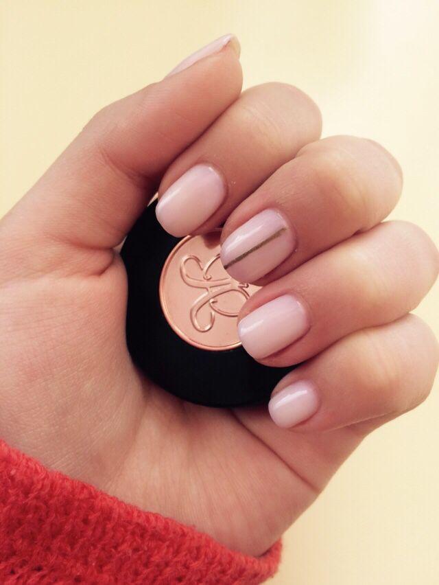 #nails#nude#gold#anastasiabeverlyhills#art#cute