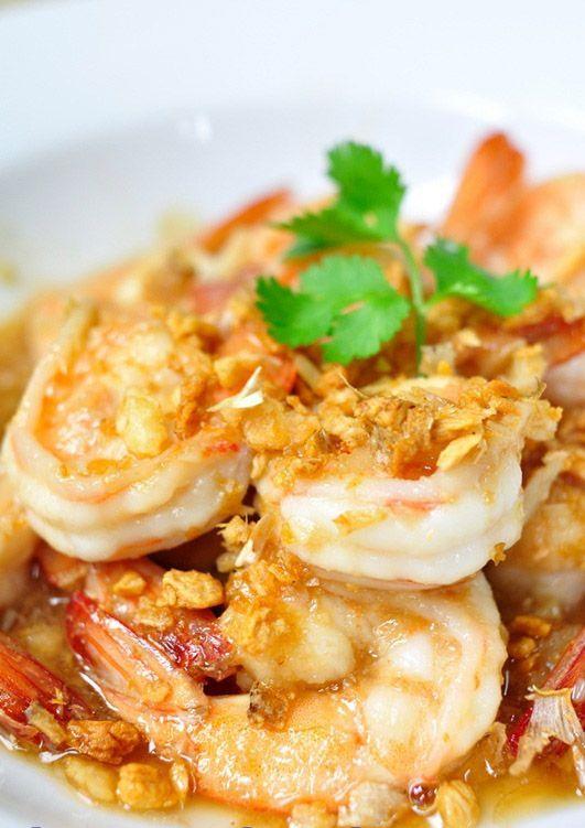 Thaise Gamba's in knoflook