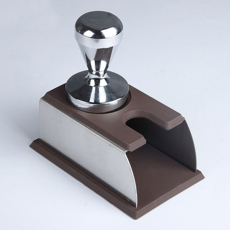1pc Coffee Espresso tamper holder support base rack tool Black/Brown for Barista
