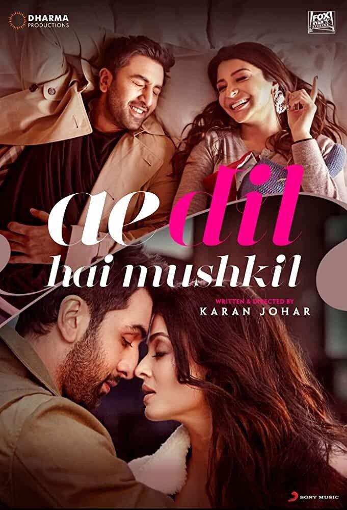 Ae Dil Hai Mushkil 2016 Bollywood Movies Best Romantic Movies Romantic Movies