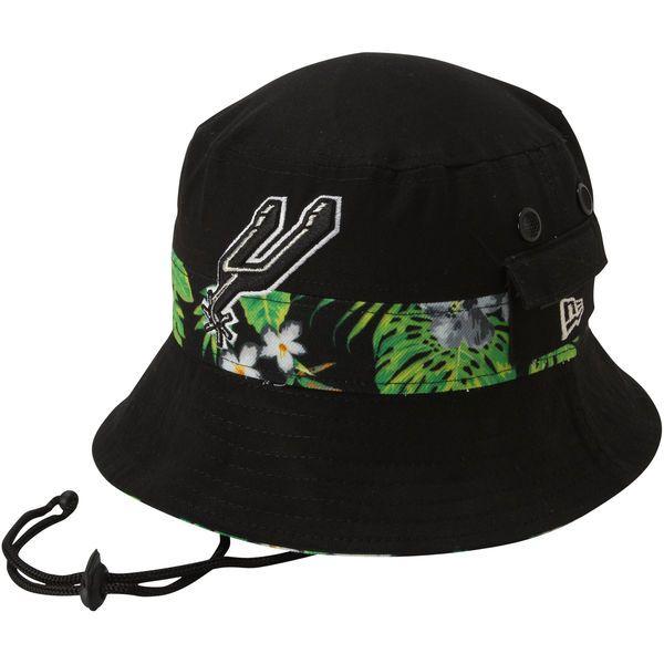San Antonio Spurs New Era Branded Floral Bucket Hat - Black - $29.99