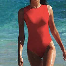 P&j High Quality Women One Piece Swimsuit High Neck Sport Swimwear Sexy Thong Bathing Suit Bodysuit Beachwear Monokini