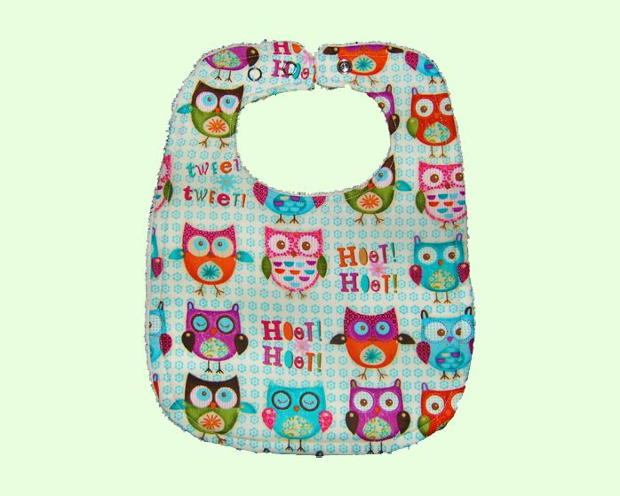 This Hoot Hoot Owl bib is the perfect complement to any outfit. This bib is very soft with a layer of towel, it was handmade with love in Australia