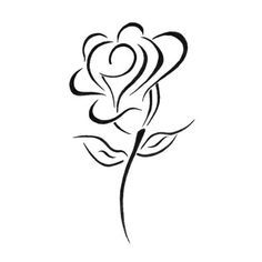 beauty and the beast rose tattoo black and white