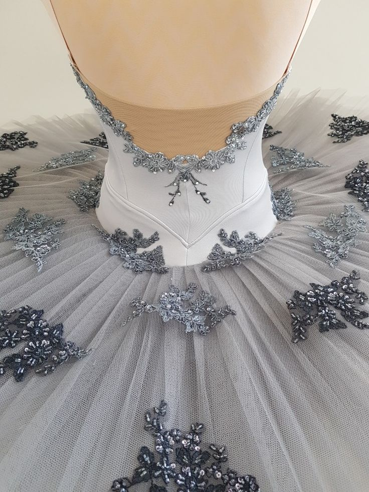 Back view of silver tutu by JeTutus