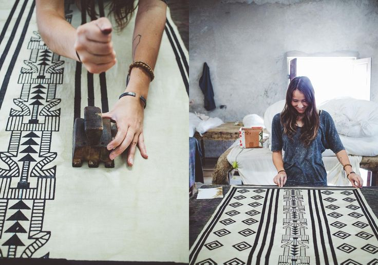 Block printing in Jaipur
