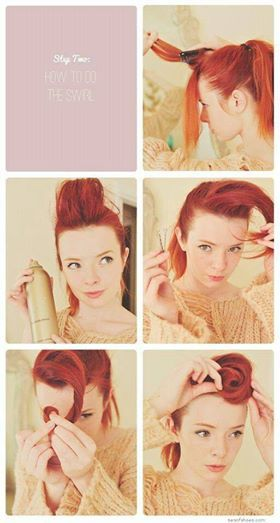 Easy vintage victory roll tutorial