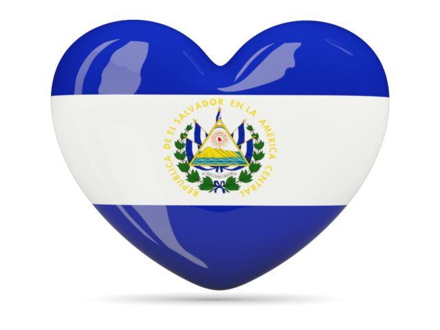 Heart icon. Illustration of flag of El Salvador