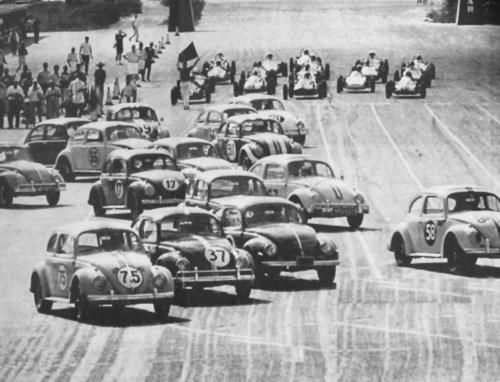 On the track! #Racing #VW #Bugs #Action #Cool