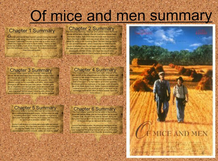 25+ best ideas about Mice and men summary on Pinterest | Mice and ...