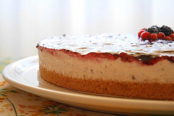 Cheesecake ai frutti rossi con scaglie di cioccolato | Mastercheffa