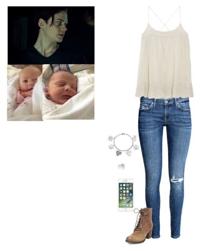 """""""Bill and I taking the kids out around LA."""" by sunshineadrenaline ❤ liked on Polyvore featuring H&M, DAY Birger et Mikkelsen, Love This Life, Johnson's Baby, Lifefactory, Ju Ju Be, Polarn O. Pyret and Steve Madden"""