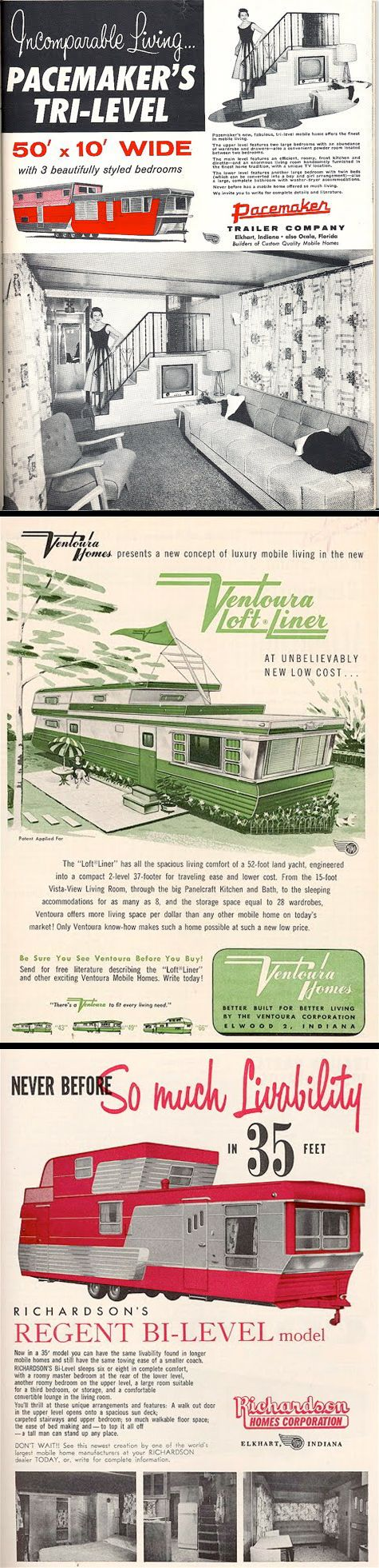 Retro Mobile Homes 160 Best House Trailers Mobile Homes Images On Pinterest