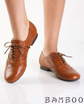 chestnut boyfriend oxford - $24.00...