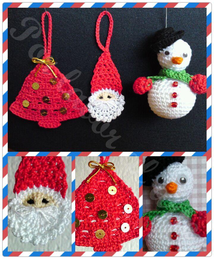 adornos navide os a crochet ganchillo por labor al arte