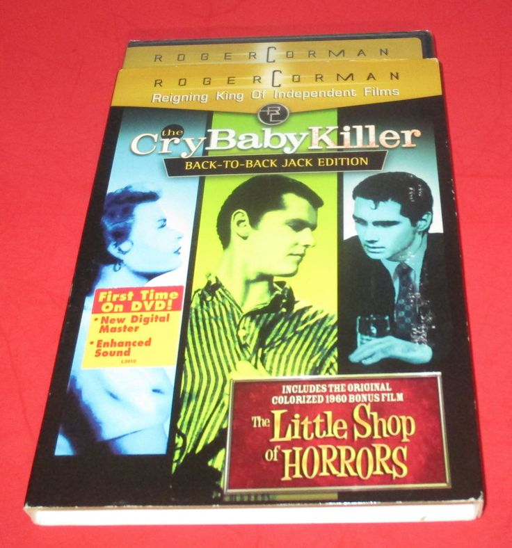 CRY BABY KILLER: BACK TO BACK JACK EDITION & LITTTLE SHOP OF HORRORS - DVD NEW! #crybabykiller #littleshopfofhorrors #jacknicholson #horror #blackcomedy #movies #raremovies #cultmovies http://www.ebay.com/usr/vinylrockretro?_trksid=p2047675.l2559